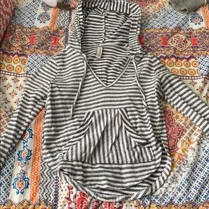 Striped Hoodie with open sides